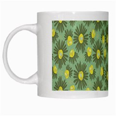 Another Supporting Tulip Flower Floral Yellow Gray Green White Mugs by Jojostore