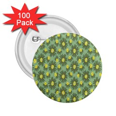 Another Supporting Tulip Flower Floral Yellow Gray Green 2 25  Buttons (100 Pack)  by Jojostore