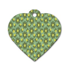 Another Supporting Tulip Flower Floral Yellow Gray Green Dog Tag Heart (two Sides) by Jojostore
