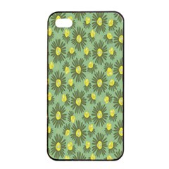 Another Supporting Tulip Flower Floral Yellow Gray Green Apple Iphone 4/4s Seamless Case (black) by Jojostore