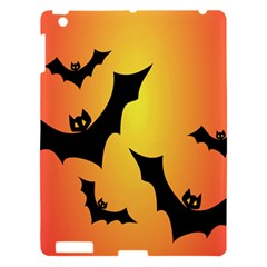 Bats Orange Halloween Illustration Clipart Apple Ipad 3/4 Hardshell Case by Jojostore