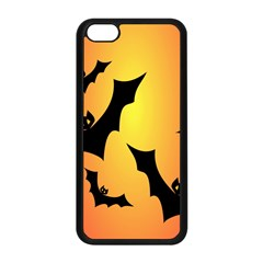 Bats Orange Halloween Illustration Clipart Apple Iphone 5c Seamless Case (black) by Jojostore