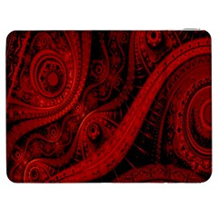 Batik Chevron Wave Free Red Samsung Galaxy Tab 7  P1000 Flip Case by Jojostore
