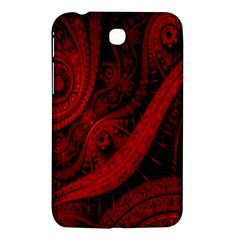 Batik Chevron Wave Free Red Samsung Galaxy Tab 3 (7 ) P3200 Hardshell Case  by Jojostore