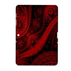 Batik Chevron Wave Free Red Samsung Galaxy Tab 2 (10 1 ) P5100 Hardshell Case  by Jojostore