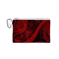 Batik Chevron Wave Free Red Canvas Cosmetic Bag (s) by Jojostore