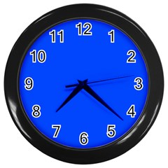 Blue Color Wall Clocks (black) by Jojostore