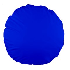 Blue Color Large 18  Premium Flano Round Cushions by Jojostore