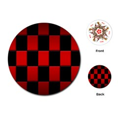Board Red Black Playing Cards (Round)  by Jojostore