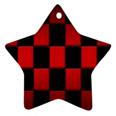 Board Red Black Star Ornament (two Sides) by Jojostore