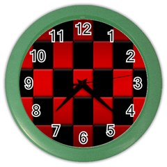 Board Red Black Color Wall Clocks by Jojostore