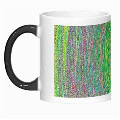 Abstraction Illusion Rotation Green Gray Morph Mugs by Jojostore