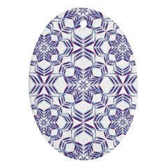 Better Blue Flower Oval Ornament (two Sides) by Jojostore