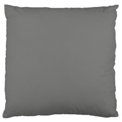 Color Grey Standard Flano Cushion Case (one Side)