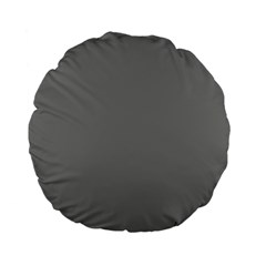 Color Grey Standard 15  Premium Flano Round Cushions by Jojostore