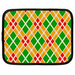 Chevron Wave Green Red Orange Line Netbook Case (xxl)  by Jojostore