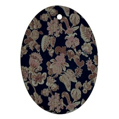 Fabrics Floral Oval Ornament (two Sides) by Jojostore