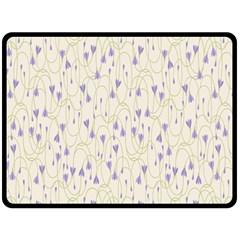 Flower Purple Fleece Blanket (large)  by Jojostore