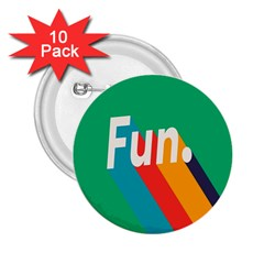 Fun 2 25  Buttons (10 Pack)  by Jojostore