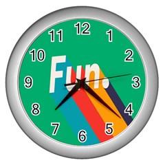 Fun Wall Clocks (silver)  by Jojostore