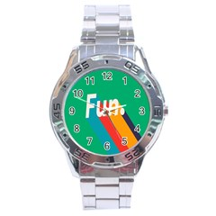 Fun Stainless Steel Analogue Watch by Jojostore