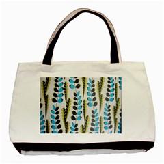 Flower Blue Basic Tote Bag by Jojostore