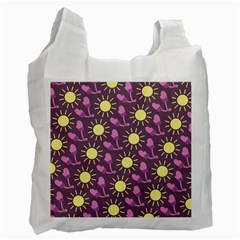 Gloves Sun Purple Yellow Recycle Bag (one Side) by Jojostore