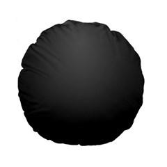 Gray Color Standard 15  Premium Flano Round Cushions by Jojostore