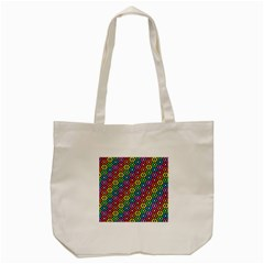 Geometric Pattern Single Page Tote Bag (cream)