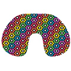 Geometric Pattern Single Page Travel Neck Pillows by Jojostore