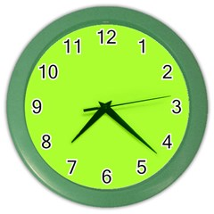 Green Color Color Wall Clocks by Jojostore