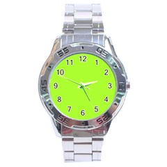 Green Color Stainless Steel Analogue Watch by Jojostore