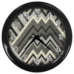 Geometric Home Decor Fabric Wall Clocks (black)