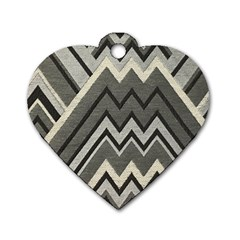 Geometric Home Decor Fabric Dog Tag Heart (two Sides) by Jojostore