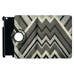 Geometric Home Decor Fabric Apple Ipad 2 Flip 360 Case by Jojostore