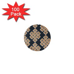 Geometric Cut Velvet Drapery Upholstery Fabric 1  Mini Buttons (100 Pack)  by Jojostore