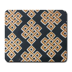 Geometric Cut Velvet Drapery Upholstery Fabric Large Mousepads by Jojostore