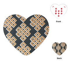 Geometric Cut Velvet Drapery Upholstery Fabric Playing Cards (Heart)  by Jojostore