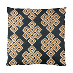Geometric Cut Velvet Drapery Upholstery Fabric Standard Cushion Case (two Sides) by Jojostore