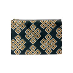 Geometric Cut Velvet Drapery Upholstery Fabric Cosmetic Bag (medium)  by Jojostore