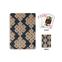 Geometric Cut Velvet Drapery Upholstery Fabric Playing Cards (mini)  by Jojostore