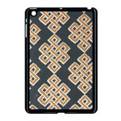 Geometric Cut Velvet Drapery Upholstery Fabric Apple Ipad Mini Case (black) by Jojostore