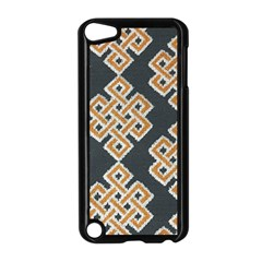 Geometric Cut Velvet Drapery Upholstery Fabric Apple Ipod Touch 5 Case (black) by Jojostore