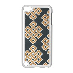 Geometric Cut Velvet Drapery Upholstery Fabric Apple Ipod Touch 5 Case (white) by Jojostore