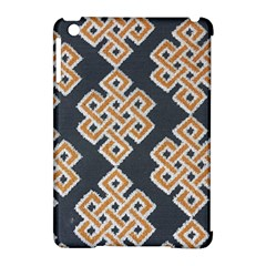 Geometric Cut Velvet Drapery Upholstery Fabric Apple Ipad Mini Hardshell Case (compatible With Smart Cover) by Jojostore