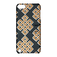 Geometric Cut Velvet Drapery Upholstery Fabric Apple Ipod Touch 5 Hardshell Case With Stand by Jojostore