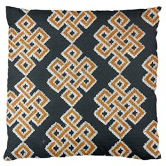 Geometric Cut Velvet Drapery Upholstery Fabric Large Flano Cushion Case (two Sides) by Jojostore