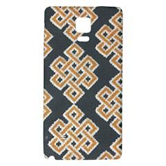 Geometric Cut Velvet Drapery Upholstery Fabric Galaxy Note 4 Back Case by Jojostore