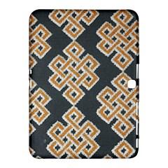 Geometric Cut Velvet Drapery Upholstery Fabric Samsung Galaxy Tab 4 (10 1 ) Hardshell Case  by Jojostore
