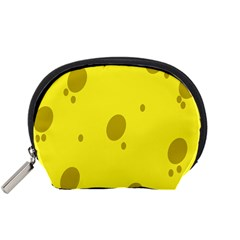 Hole Cheese Yellow Accessory Pouches (small)  by Jojostore
